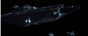 tie fighters going to the star destroyyer